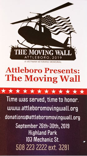 162 – The Moving Wall Attleboro, MA